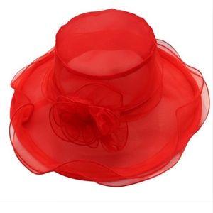 Red Organza Full Sz Hat Holidays, Church, Derby